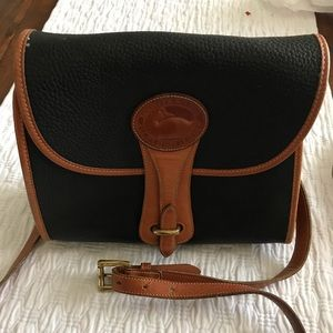 Vintage Dooney & Bourke Essex Bag BlackTan Leather